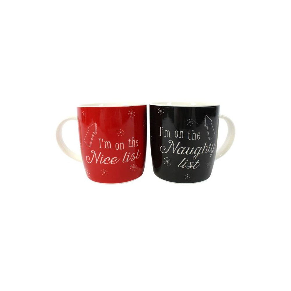 Christmas Mugs.Christmas Mugs Naughty List And Nice List