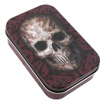 Oriental Skull Design Tin