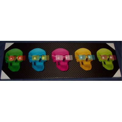 Large LED Skulls Wall Plaque