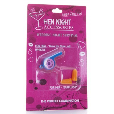 Hen Night - Whistle And Earplugs Set
