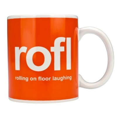 Text Speak Mug - ROFL
