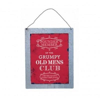 Grumpy Old Men's Club Wall Plaque