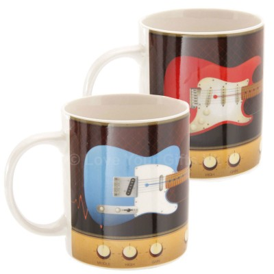 Electric Guitar And Amplifier Knobs Design Mug
