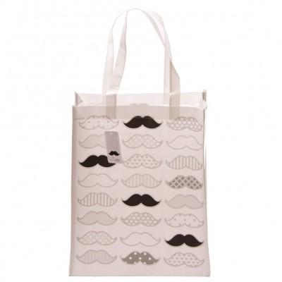 Moustache Design Shopping Bag