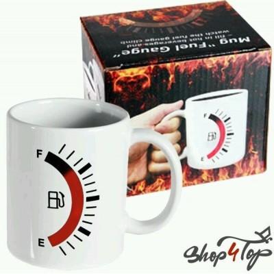 Fuel Gauge Mug - Heat Sensitive