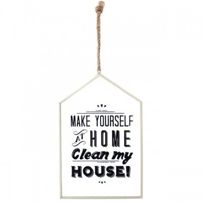 Make Yourself At Home Glass Sign