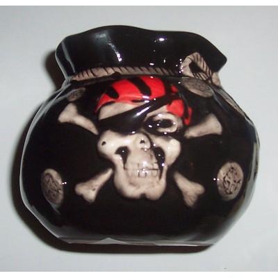 skull and crossbones money box