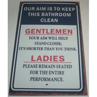 Bathroom Rules Wall Plaque