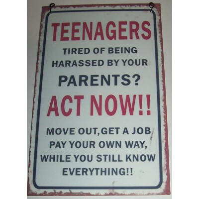 Teenagers Wall Plaque