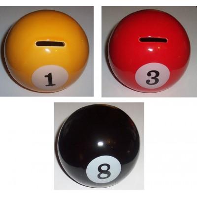 Pool Ball Ceramic Money Box