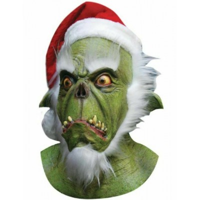 Green Santa Monster Head Mask