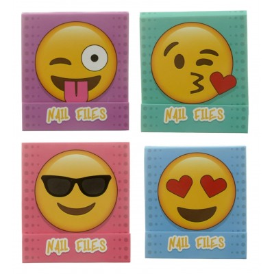 Four emoti / smiley face nail file matchbooks