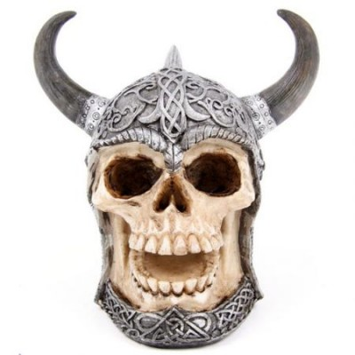 Armoured Celtic Skull Money Box