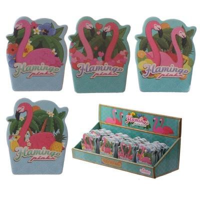 Set of 4 Flamingo Design Nail Files