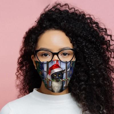 Face Covering / Mask - Christmas Cat / Krampuss design