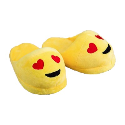 Emoji Heart Eyes Slippers - open back