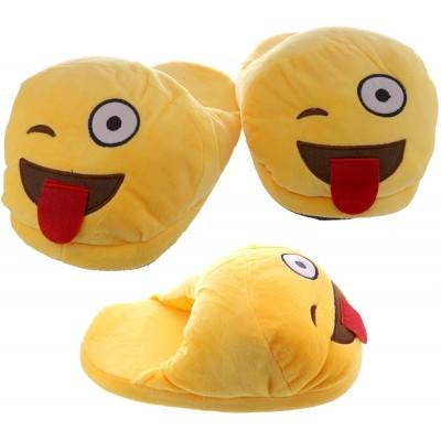 copy of Emoji Winking Slippers - open back