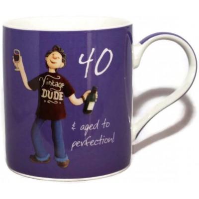 40 & Aged To Perfection Mug