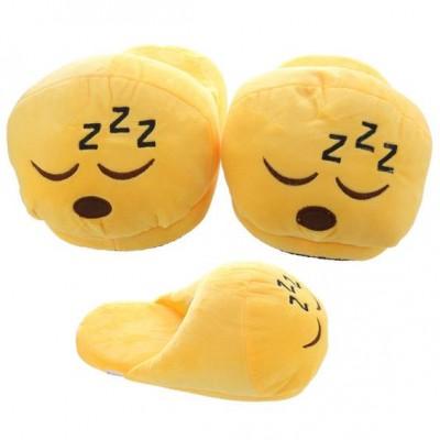 Emoji Sleeping ZZZ Slippers - open back